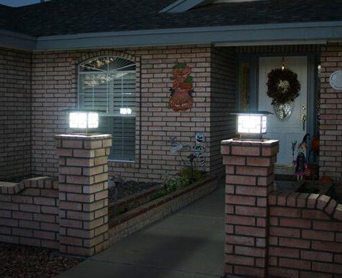Đèn trụ cổng hàng rào