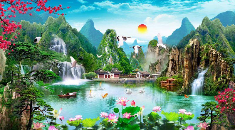 tranh-3d-son-thuy-hieu-tinh-nhu-doi-chim-kia-cung-bay
